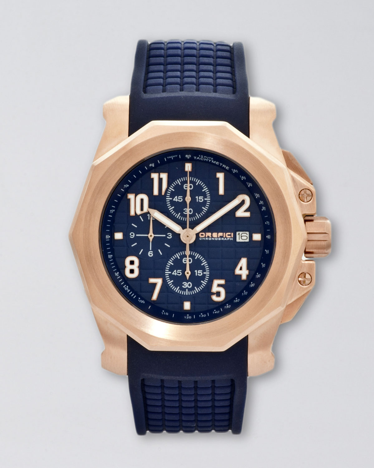 orefici watches galante chronograph watch in blue for men lyst gallery