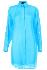 Versace Button Sleeve Oversize Shirt