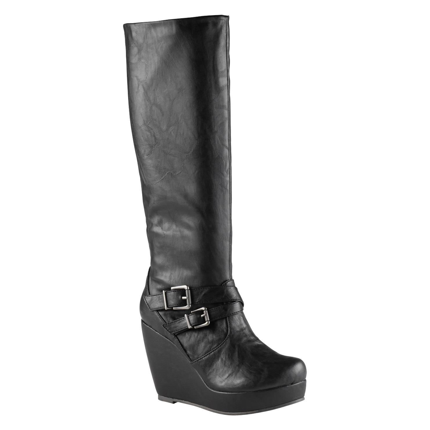 aldo wedge boot in black lyst
