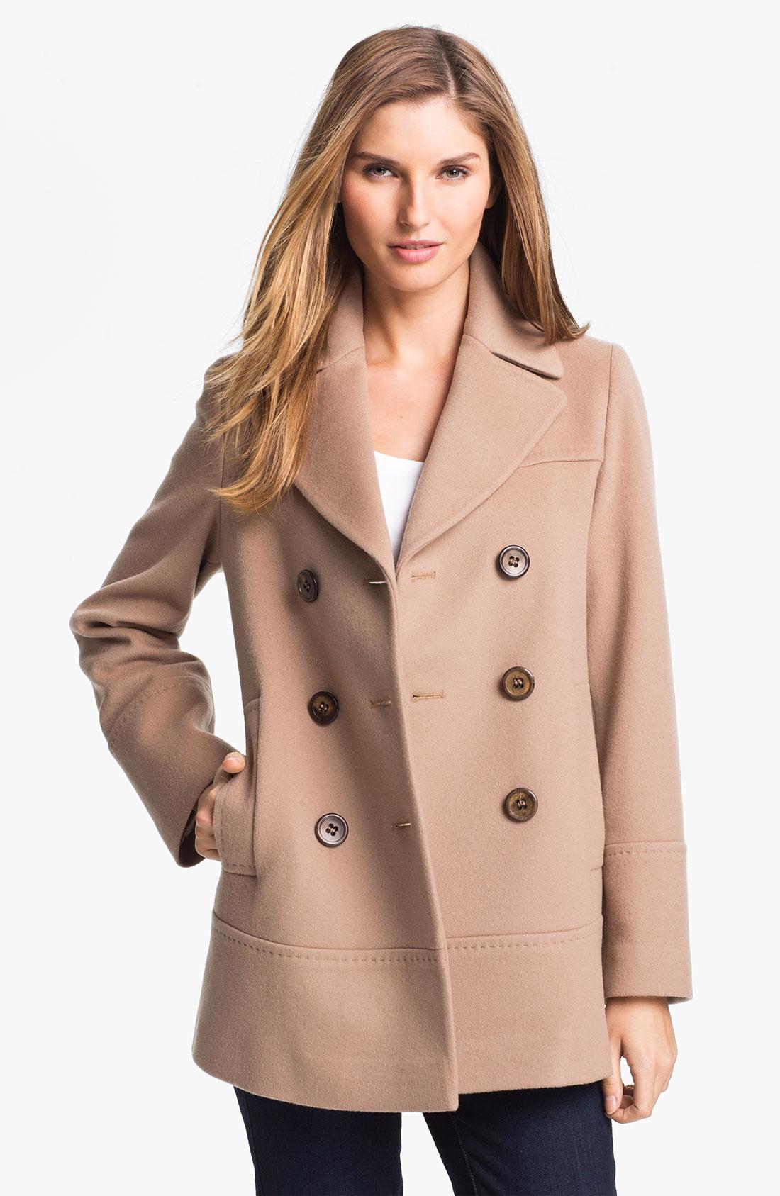 Womens Faux Leather Pea Coat - Tradingbasis