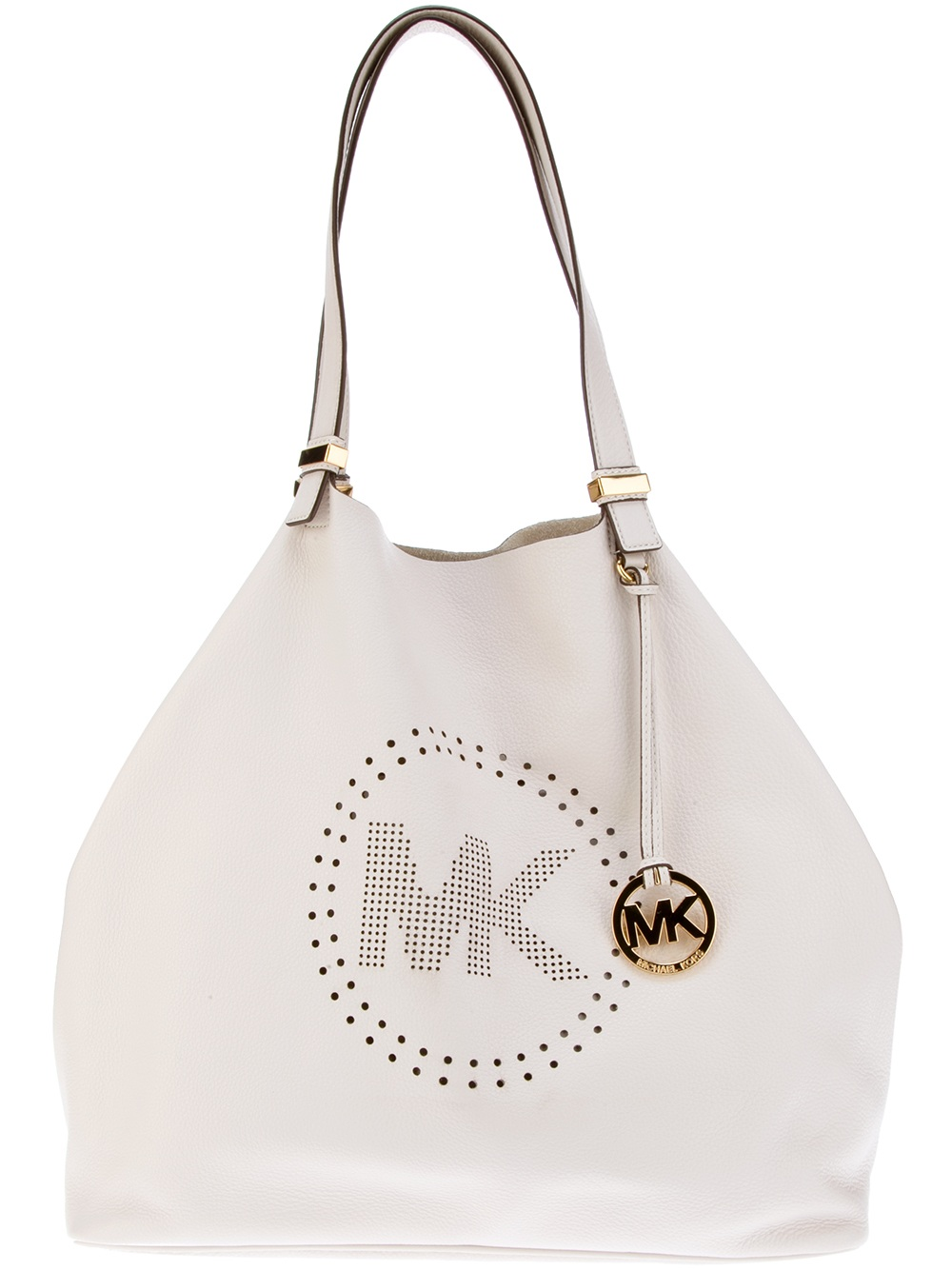 michael by michael kors tote bag in white lyst