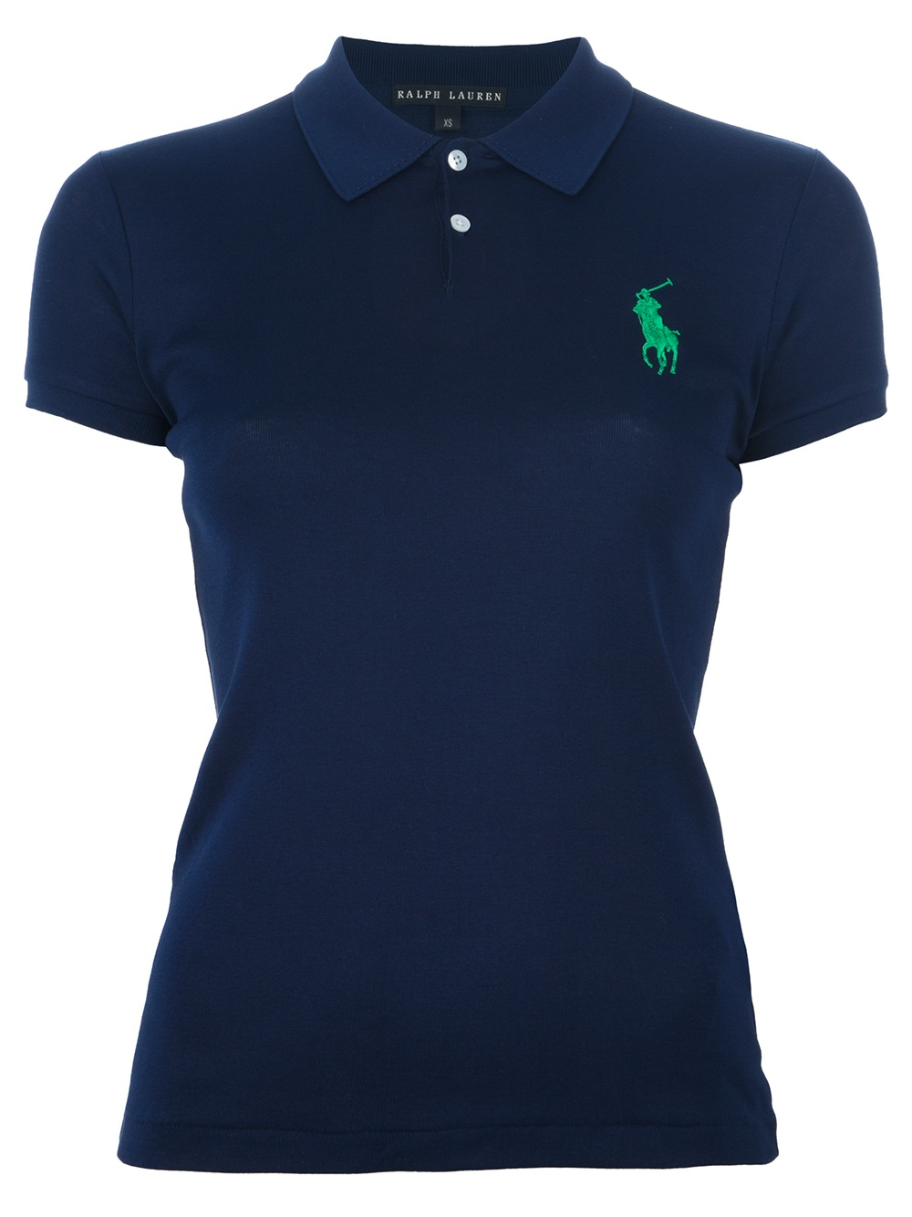 Ralph lauren black label logo polo shirt in blue navy lyst for Ralph lauren black label polo shirt