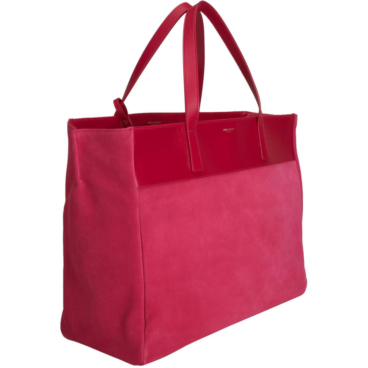 lyst saint laurent reversible shopper tote in pink. Black Bedroom Furniture Sets. Home Design Ideas