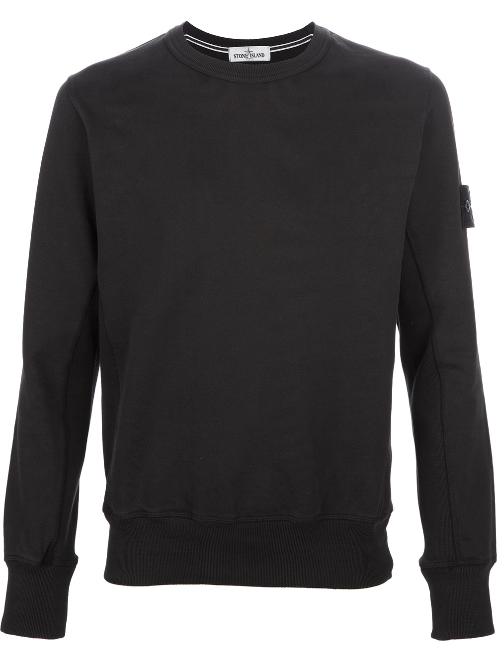 Lyst Stone Island Crew Neck Sweater In Black For Men