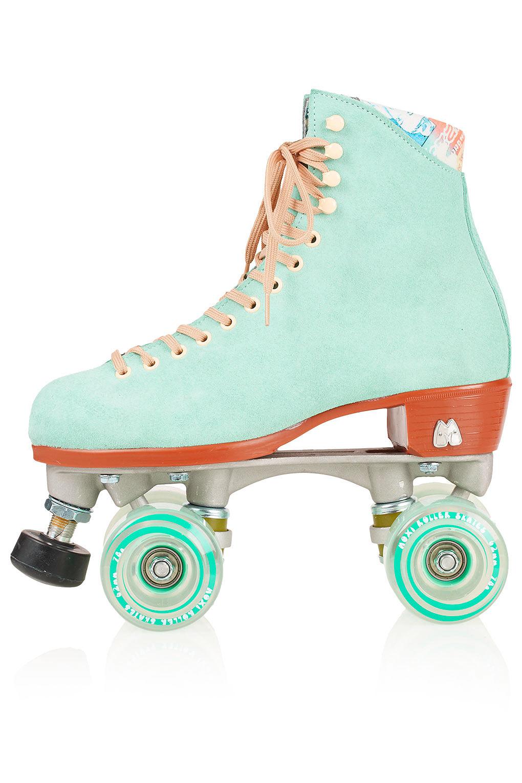 Topshop Roller Skates In Green Lyst