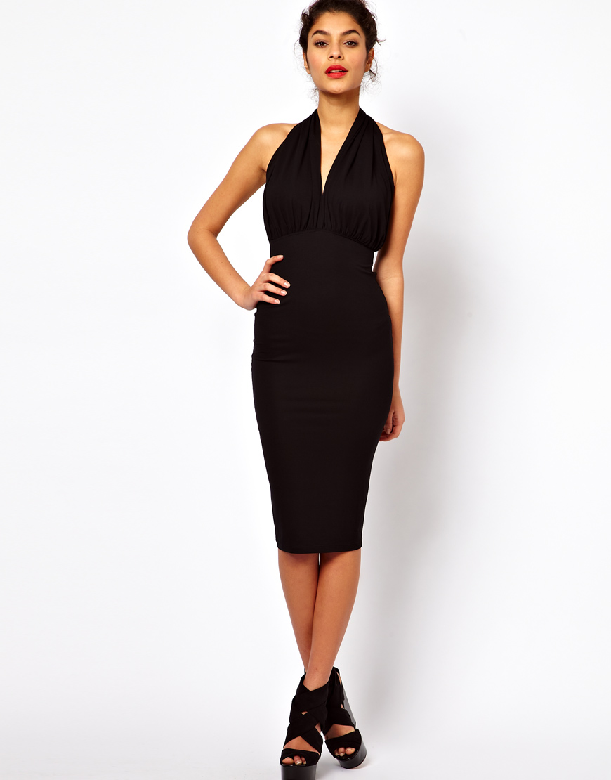 Black dress halter neck - Gallery