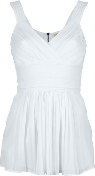 Burberry Pleated Top in White