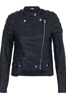 Carven Padded Leather Biker Jacket - Lyst
