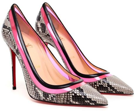 Christian Louboutin Paulina Python Leather Pumps in Animal (multi)