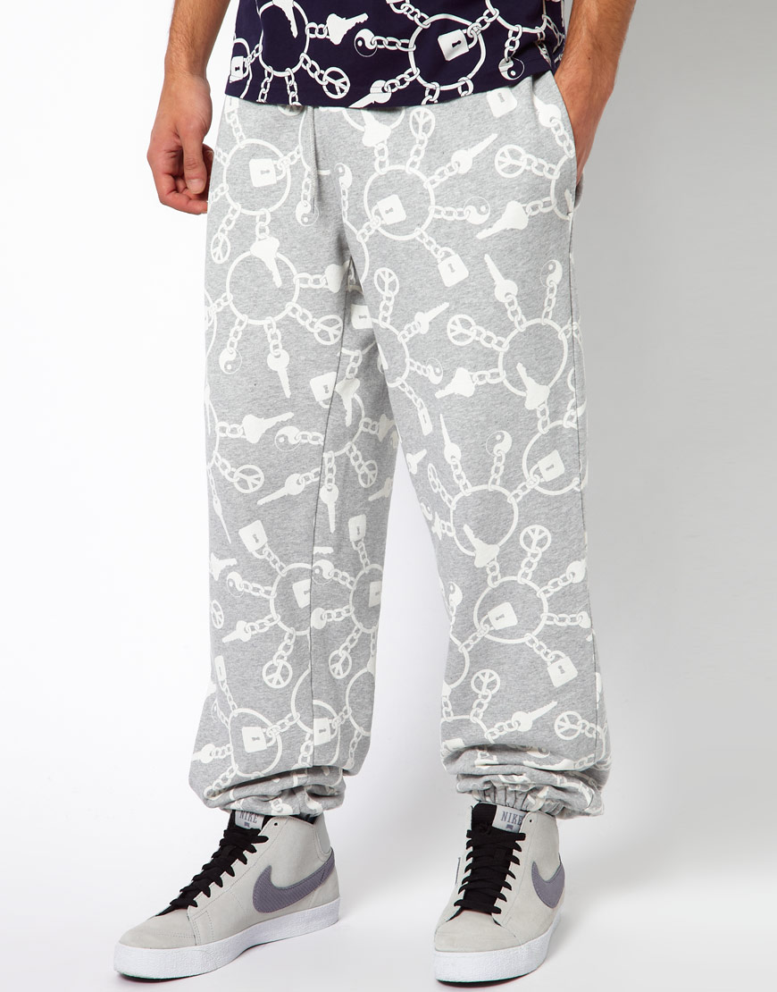 1d209e9769f Lyst - Christopher Shannon Trousers with Keyring Print in White for Men