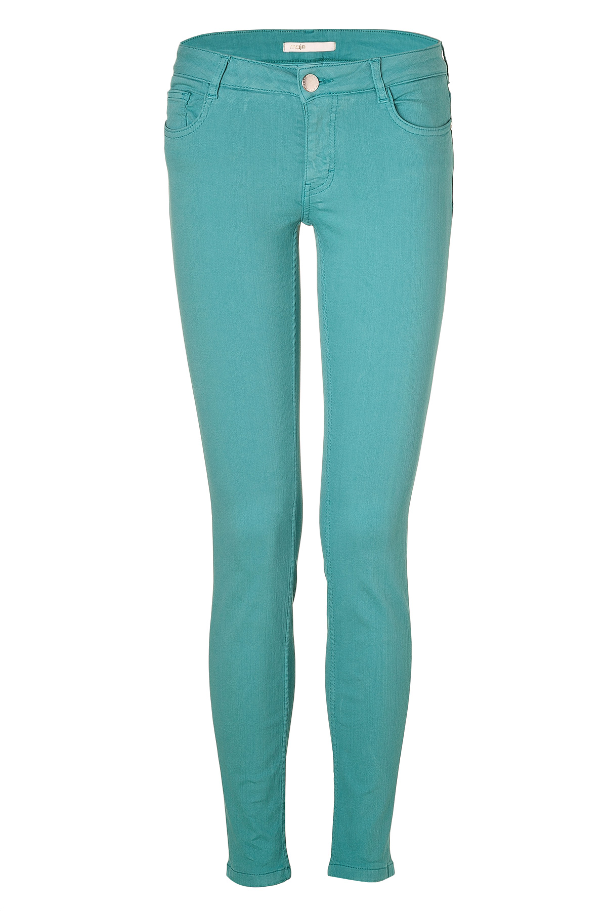 Maje Turquoise Skinny Jeans in Blue | Lyst