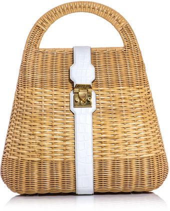 Mark Cross Man Ray Wickerbasket Bag - Lyst
