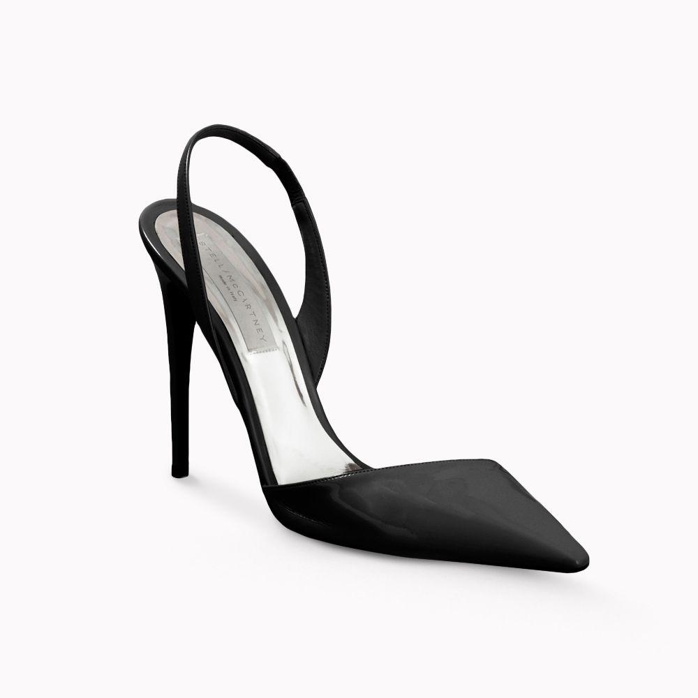 Shoeniverse  STELLA MCCARTNEY Black Slingbacks - ON SALE! 47335fb21024