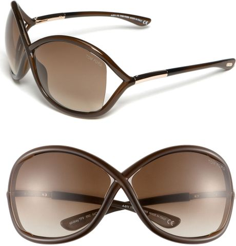 tom ford whitney open side sunglasses in brown dark brown lyst. Cars Review. Best American Auto & Cars Review