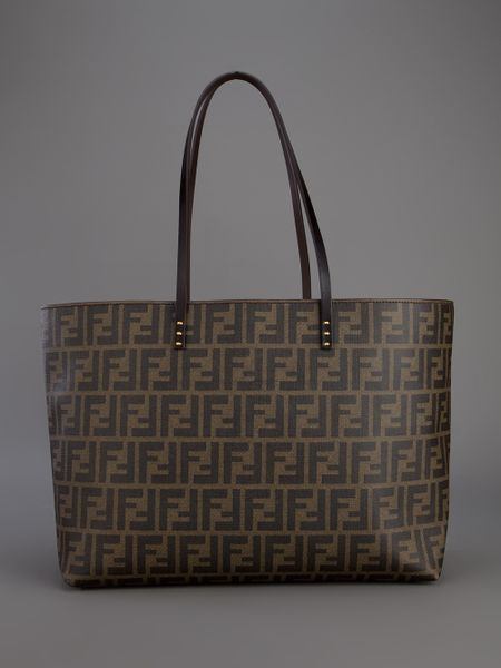 8fc8ac6510 Fendi Monogram Shopper Tote in Brown