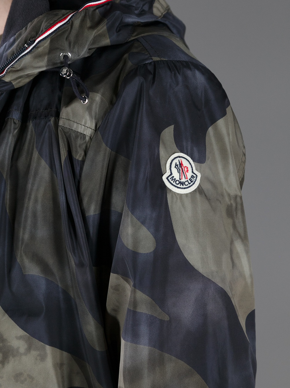 moncler red camo jacket