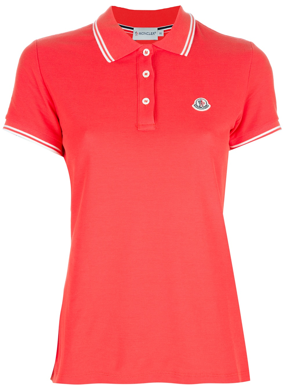Moncler Pique Polo Shirt In Red Lyst