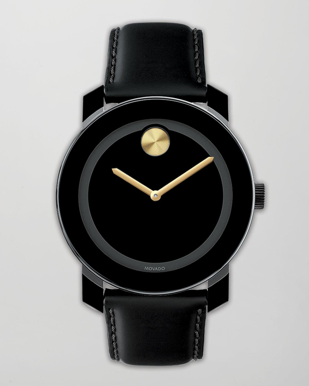 movado bold 42mm bold blackgold in black lyst