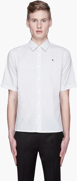 Raf Simons  Polka Dot Logo Embroidered Shirt - Lyst
