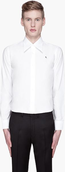 Raf Simons White Retro Collar Shirt - Lyst