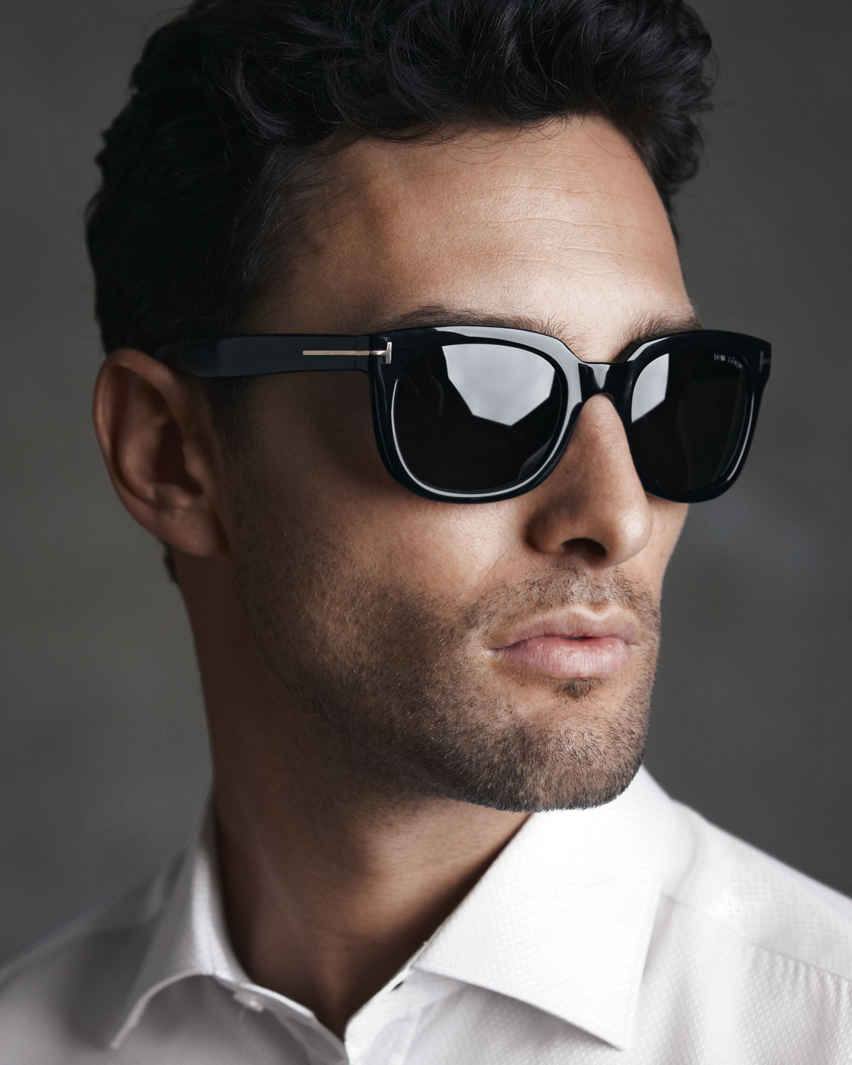 tom ford campbell plastic sunglasses in black for men lyst. Black Bedroom Furniture Sets. Home Design Ideas