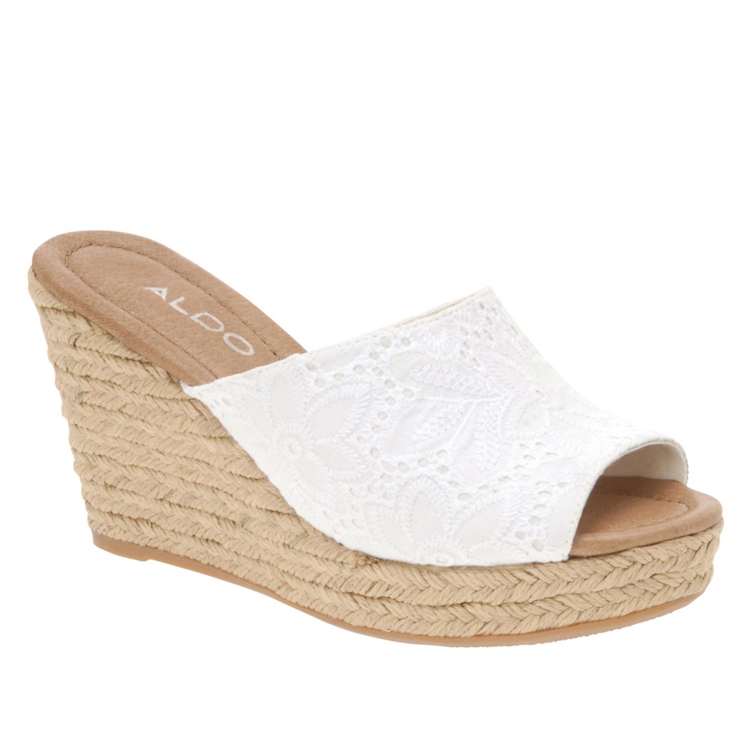 932d643e259 Lyst - ALDO Wedge Sandals in White