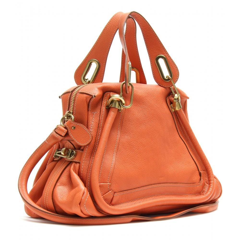 Chlo¨¦ Paraty Medium Leather Shoulder Bag in Orange | Lyst