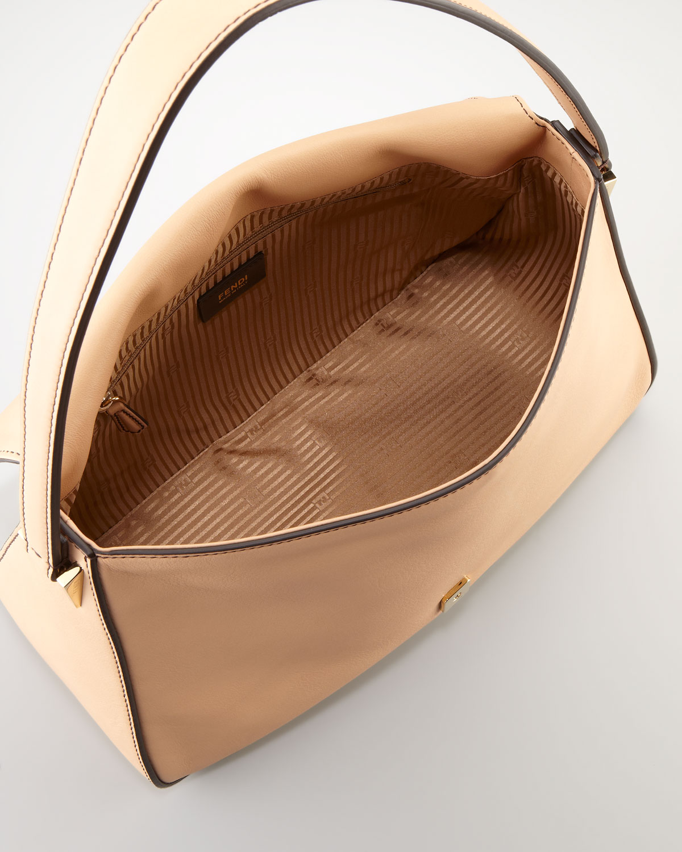 bc46ab1b48fd Lyst - Fendi Big Mama Zucca flap Large Shoulder Bag in Natural