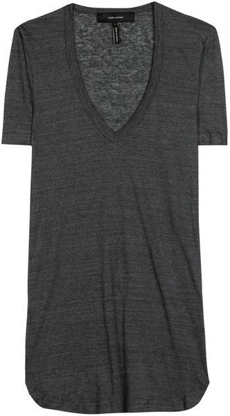 Isabel Marant Juliette Linen T-shirt in Gray for Men (slate)