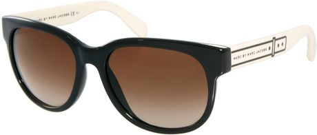 Marc Jacobs Big Frame Glasses : Marc By Marc Jacobs Frame Sunglasses in Black (xn9brwcream ...