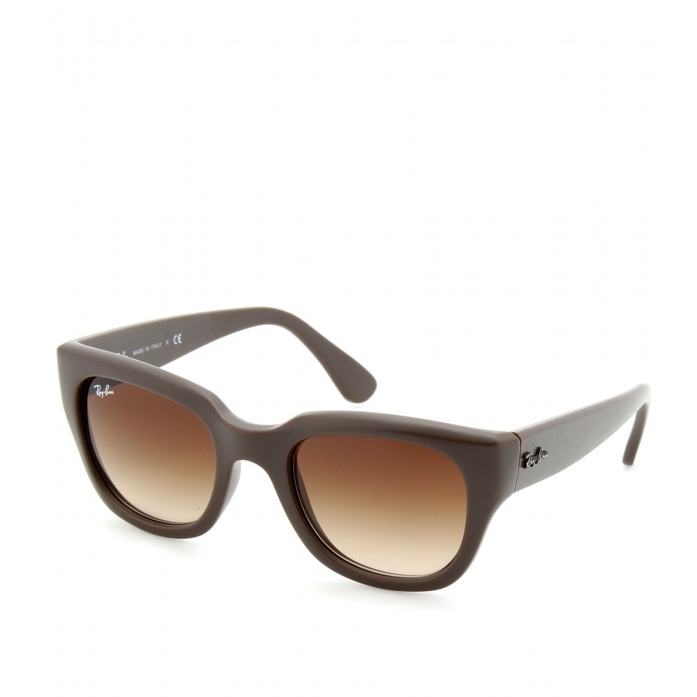 Lyst   Ray Ban Matte Sunglasses In Brown