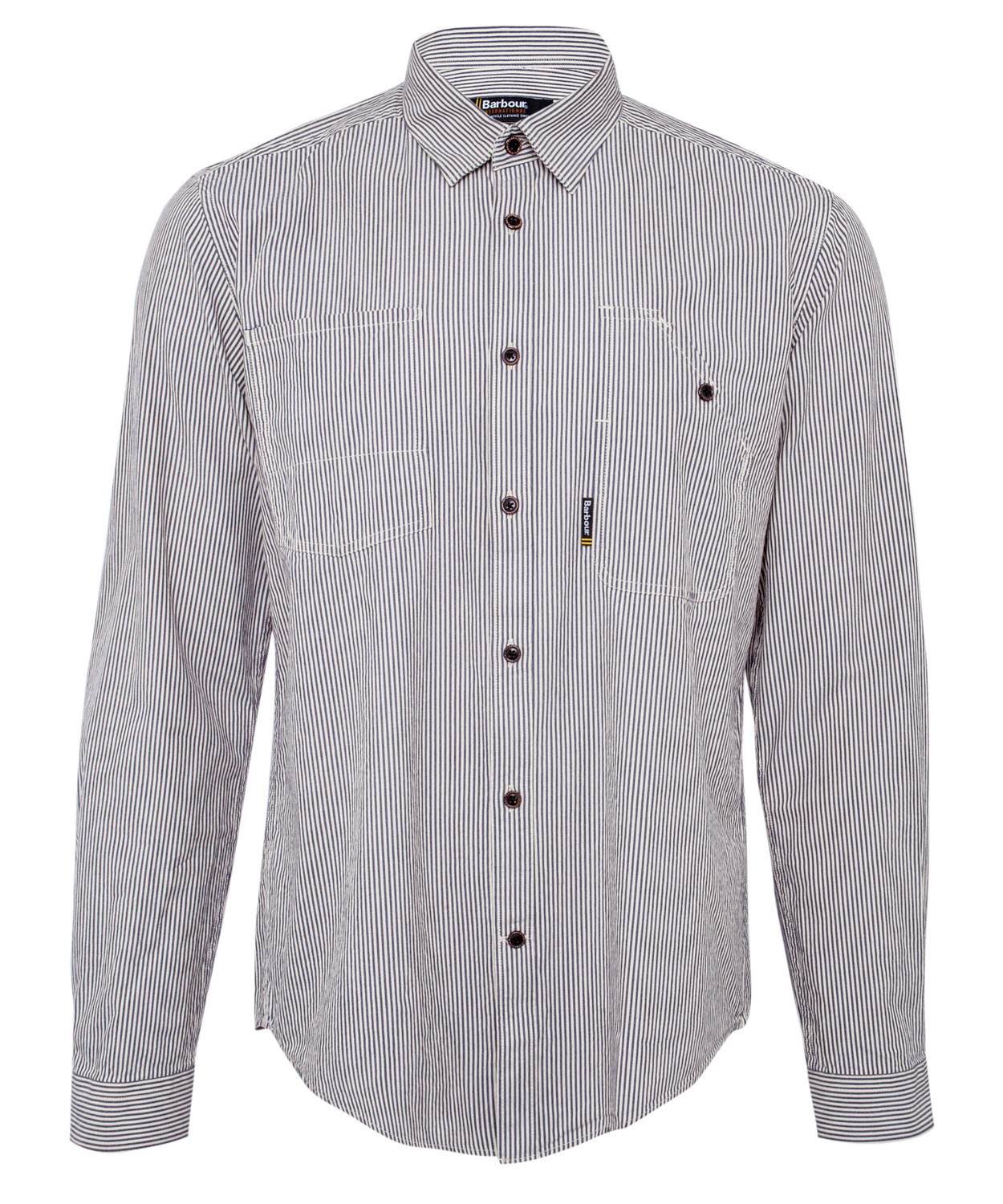 Lyst Barbour Navy And White Wakefield Stripe Shirt In