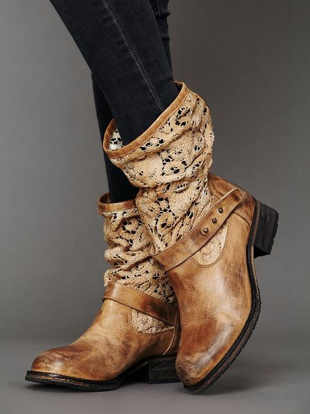 Free People Crochet Beau Boot In Brown Tan Lyst