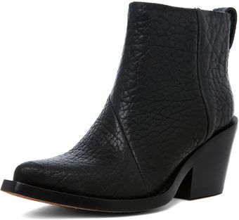 Acne Bootie in Black - Lyst