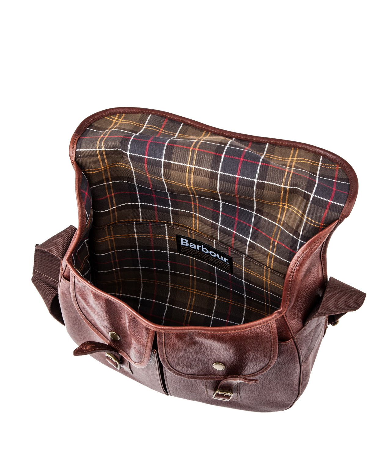 a7825b1e146 Barbour Dark Brown Leather Tarras Satchel in Brown for Men - Lyst