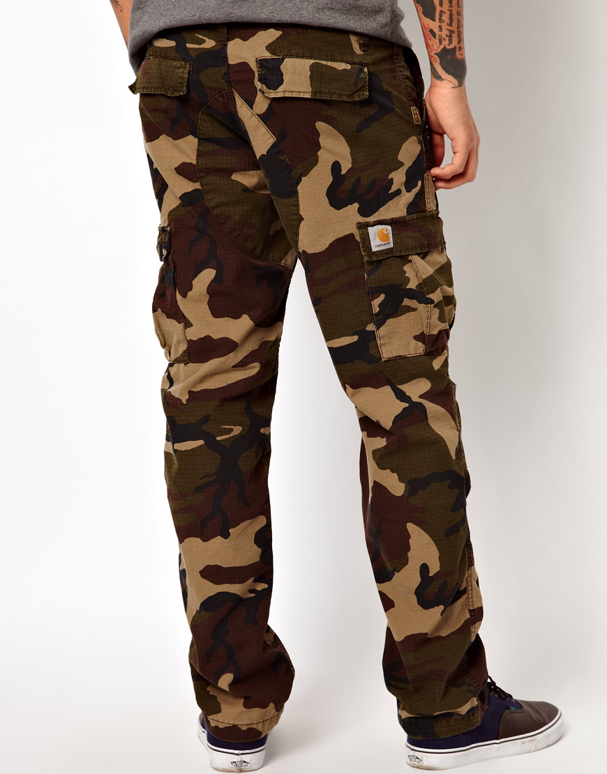 07dae300fb Carhartt Cargo Trousers Aviation Slim Camo Ripstop in Natural for ...