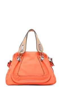 Chloé Paraty Small Leather Shoulder Bag in Orange Fizz - Lyst