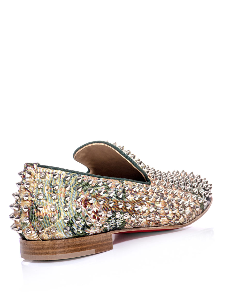 christian louboutin Rollerboy spike round-toe loafers | Learn to ...