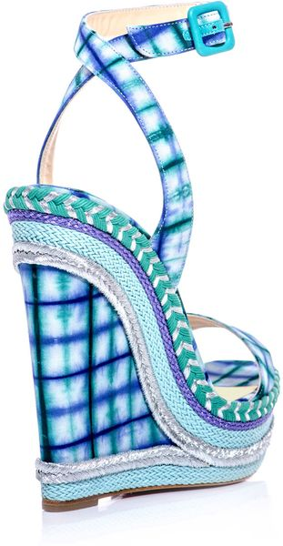 christian louboutin gingham wedge sandals   cosmetics digital ...