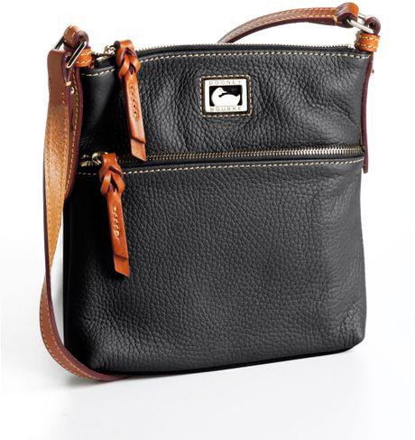 Dooney & Bourke Letter Carrier Leather Crossbody Bag in Black - Lyst