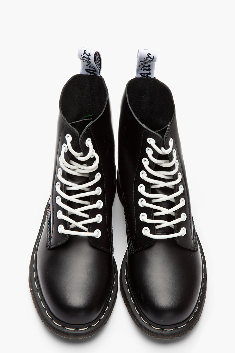 dr martens black white buffed leather 8eye pascal boots