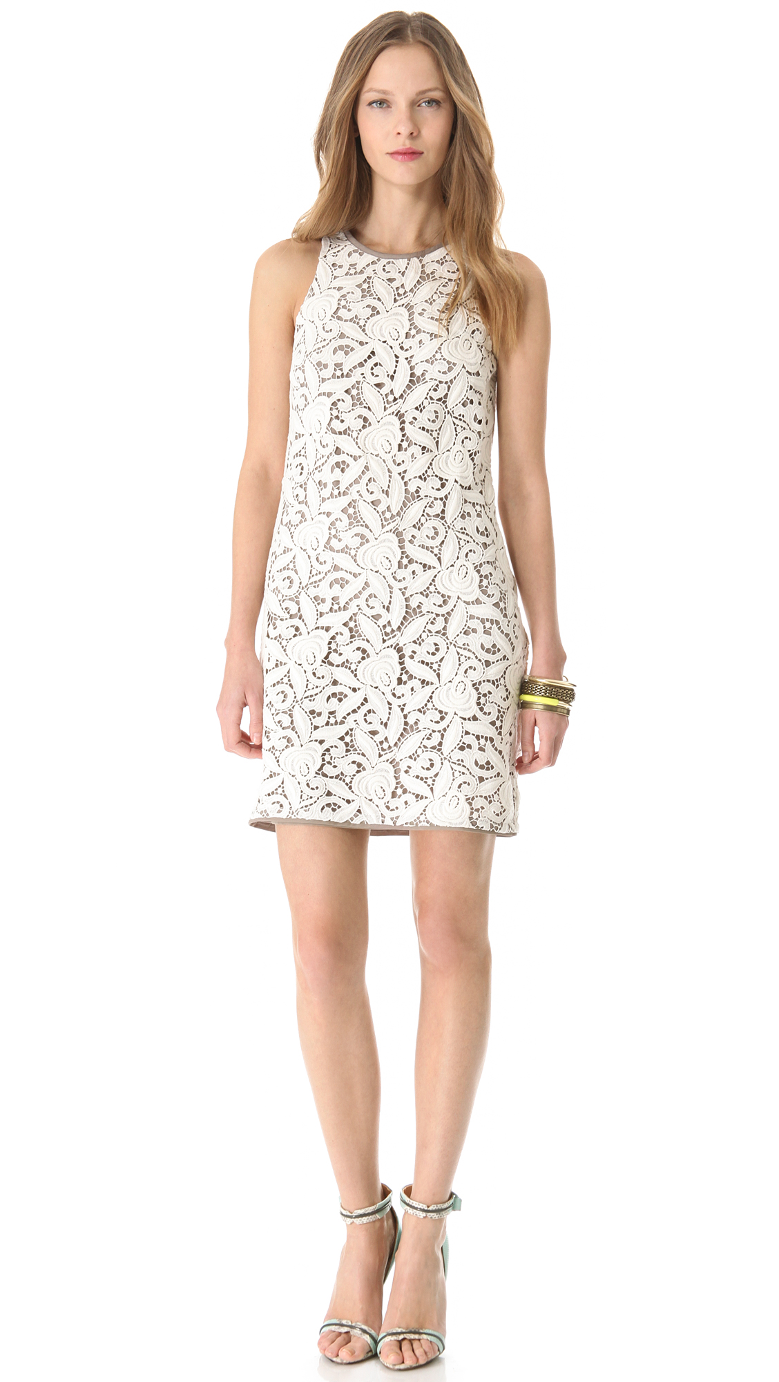 Lyst - Juicy Couture Guipure Lace Dress in White