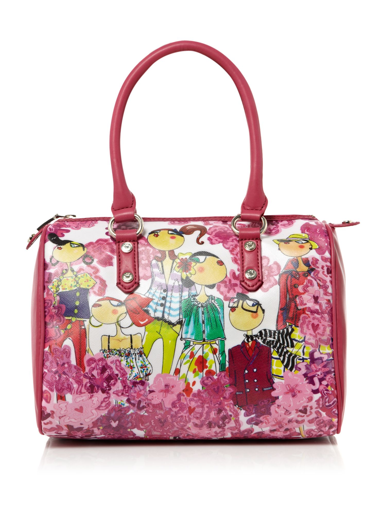 love moschino charming bowling bag in pink multi coloured lyst. Black Bedroom Furniture Sets. Home Design Ideas