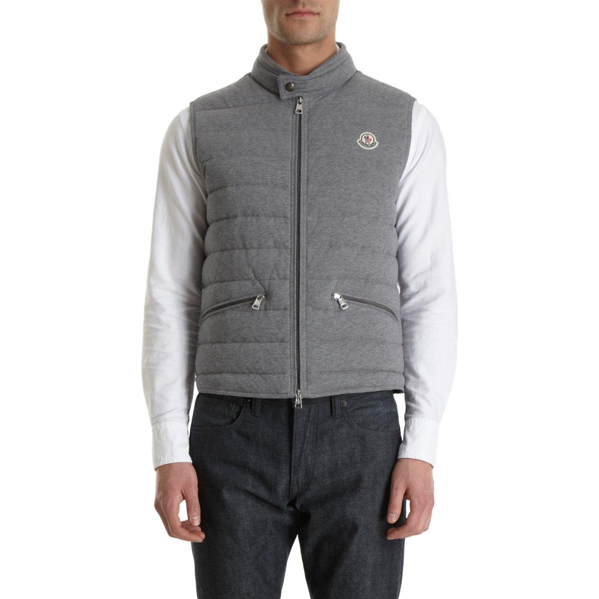 moncler grey vest