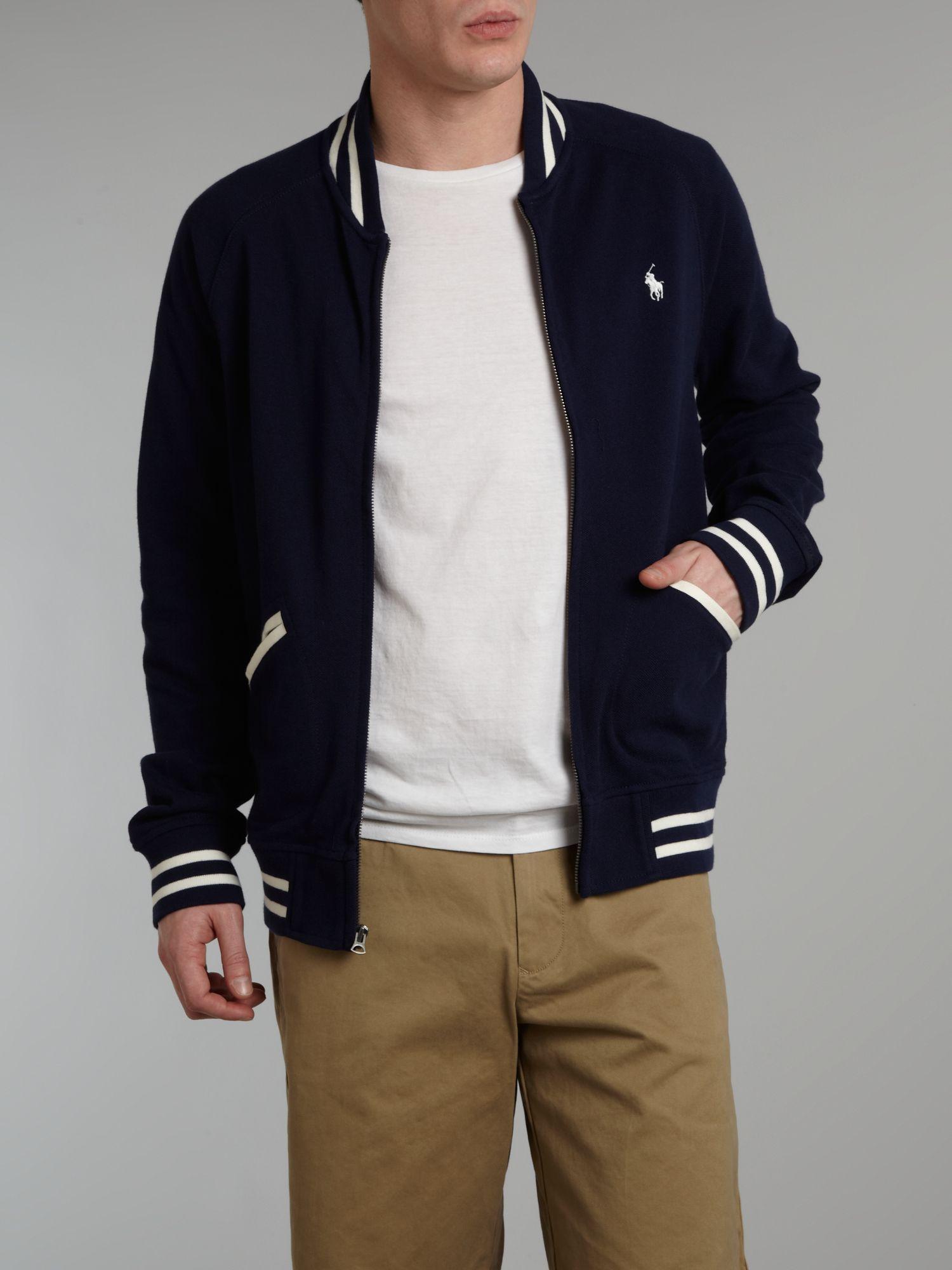 Polo ralph lauren Baseball Jacket in Blue for Men | Lyst