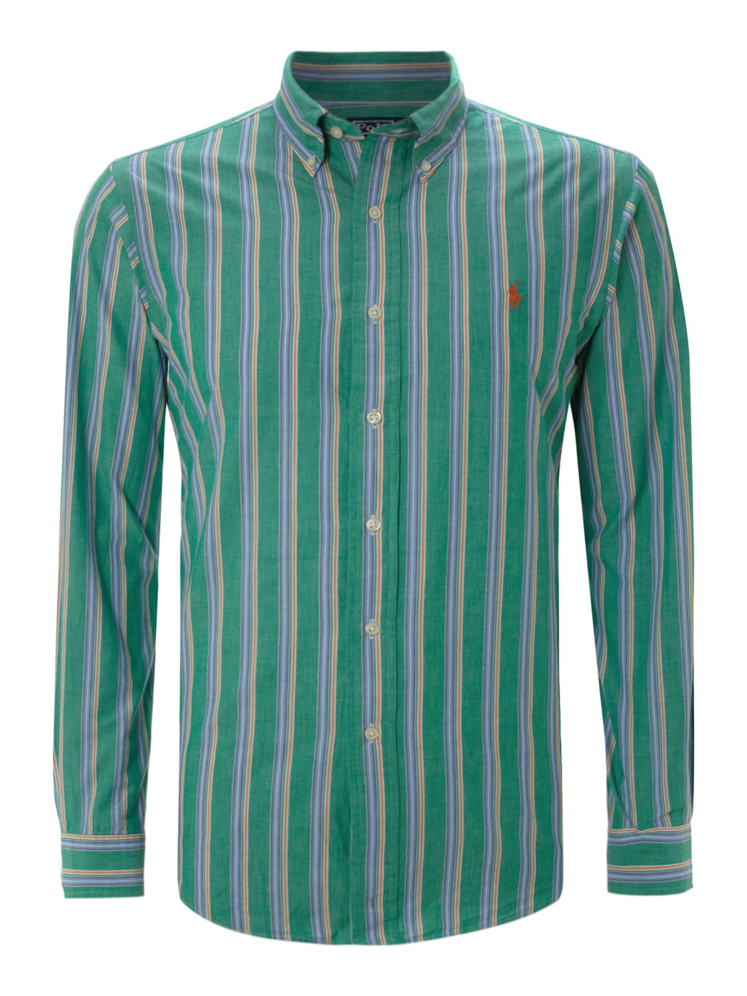 Polo Ralph Lauren Long Sleeved Custom Fitted Shirt In