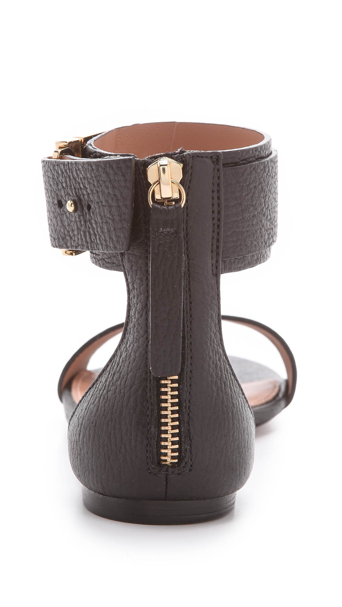 Lyst Rachel Zoe Gladys Flat Sandals In Black