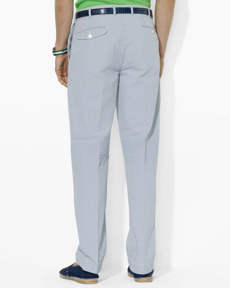 Pick your pastel with our mens seersucker pants. Your style will draw attention wherever you go when you rock teal madras pants or flag check breakers.