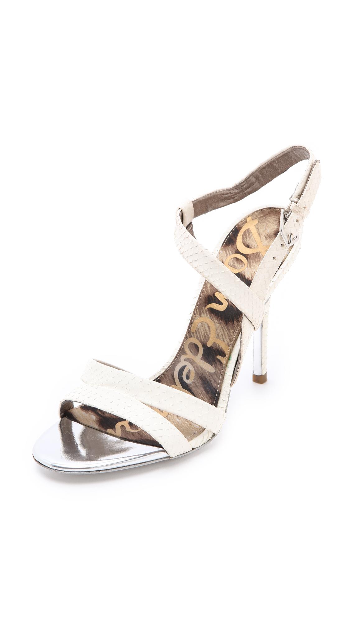 Sam Edelman Abbott High Heel Sandals In White Lyst
