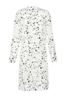 Tibi Dress on Tibi Starfish Print Shirt Dress In White   Lyst